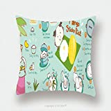 Custom Satin Pillowcase Protector Mango With Sticky Rice Thai Dessert Vector Illustration 298834868 Pillow Case Covers Decorative