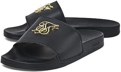 Sik Silk Hombre Roma Lux Sliders, Negro, 44 EU: Amazon.es: Zapatos y complementos