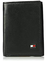 Tommy Hilfiger Men's Rfid Blocking Leather Oxford Trifold With Interior Zipper