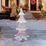 6 Foot Color Changing White Outdoor Christmas Tree Sculpture Yard Lawn Garden Decoration