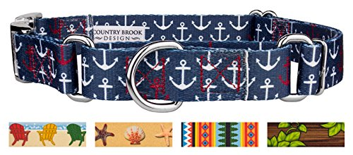 Country Brook Petz | Anchors Away Martingale with Premium Buckle - Extra Large