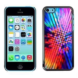 LECELL -- Funda protectora / Cubierta / Piel For Apple iPhone 5C -- Design Party Neon --