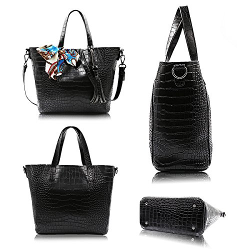 Bag Black Hobo Women Messenger Handbags Purse Satchel Tote Handle Bag Top Shoulder Bag wqwTZ0