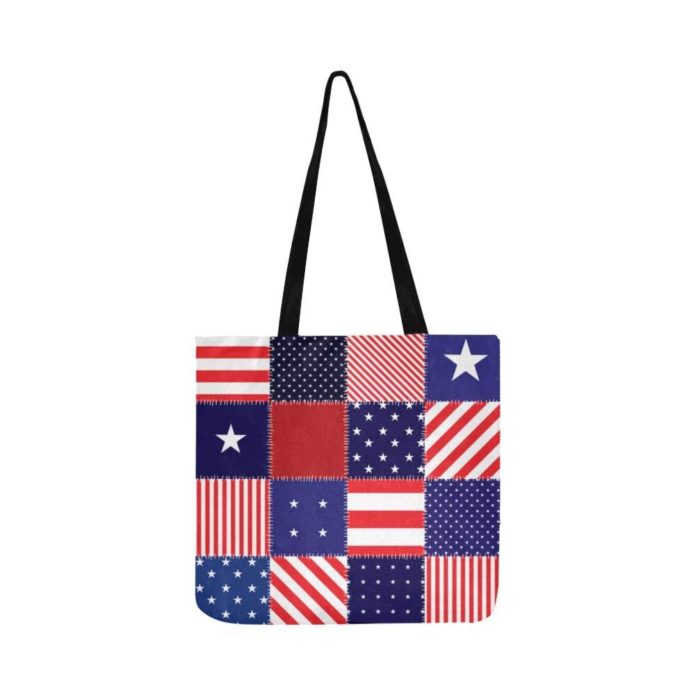 Patchwork Bandera Americana Lienzo Tote Bolso Bandolera ...