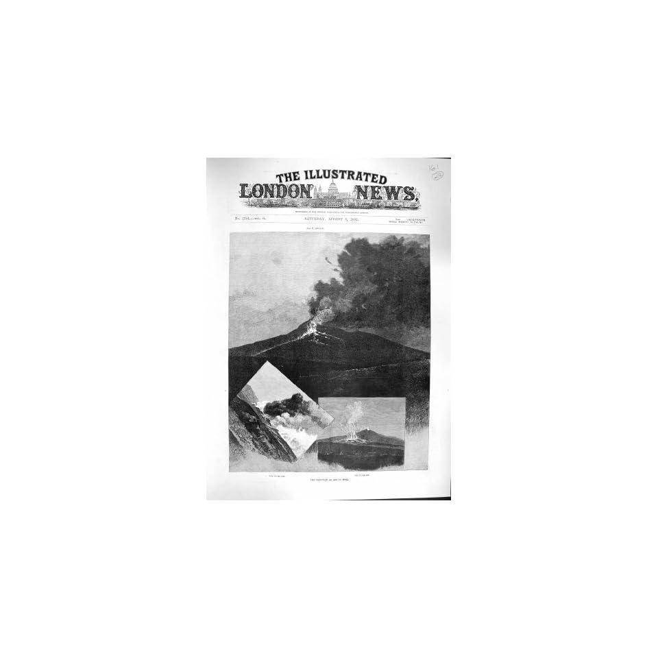 1892 ERUPTION MOUNT ETNA VOLCANO MOUNTAIN FINE ART
