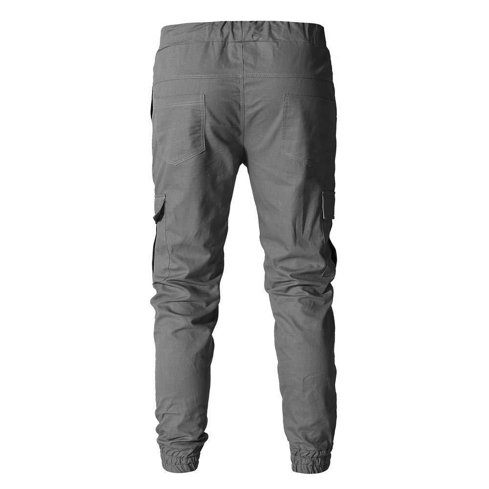 Nevera 2019 Men Pants Casual Loose Pocket Comfy Jogger Long Slacks Sweatpants Trousers