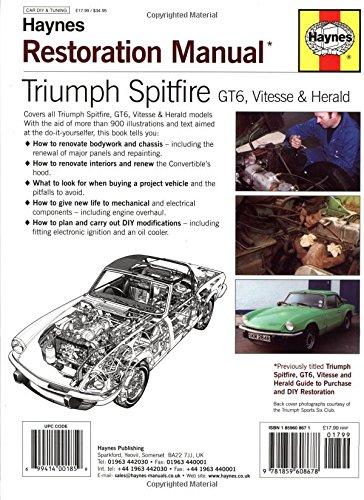 triumph spitfire gt6 vitesse and herald restoration manual rh amazon com