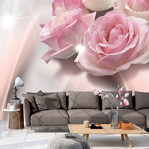 Vlies Fototapete 400x280 cm ! Top - Tapete - Wandbilder XXL - Wandbild - Bild - Fototapeten - Tapeten - Wandtapete - Wand - Blumen Rosa b-C-0109-a-a