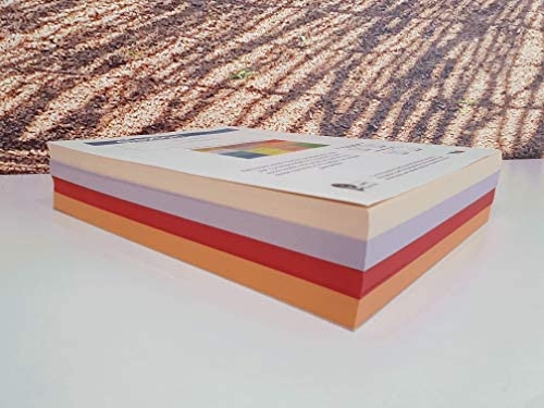 4 Farben Orange, Rot, Lila, Lachs