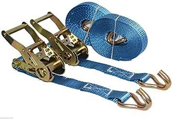 4 x 5m x 25mm Ratchets Tie Down Straps 1.5 tons Lorry Lashing