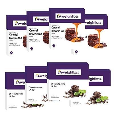 LA Weight Loss Bars - Chocolate Mint & Caramel Nut - 8 Boxes