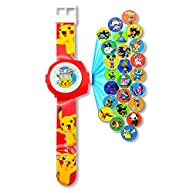 FAVTOY ISLAND - Pokemon Image Projector Digital Silicone Wristwatches for Kids - Red