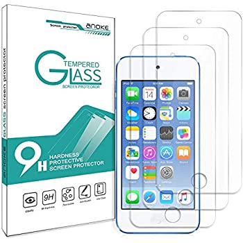 iPod Touch 6th Generation Screen Protector, iPod Touch 5, AnoKe[Tempered Glass][Case Friendly] Clear Anti-Scratch Screen Protector Film for Apple iPod 5th / 6th Generation -3Pack