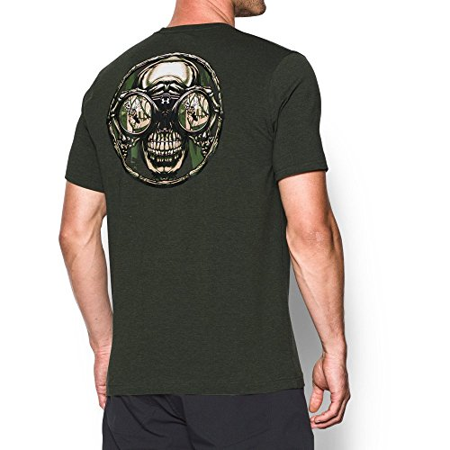 Under Armour Men's Whitetail Reaper T-Shirt, Artillery Green/White, X-Large