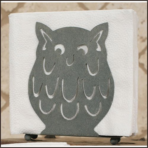 Owl Napkin Holder in Barn Roof by Colonial Tin Works