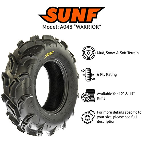 SunF Mud Trail Replacement ATV UTV 6 Ply Tires 27x9-14 /& 27x11-14 Tubeless A048, Set of 4