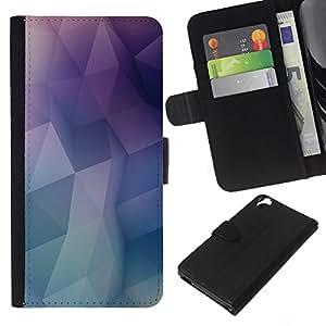 Planetar® Modelo colorido cuero carpeta tirón caso cubierta piel Holster Funda protección Para HTC Desire 820 ( minimal poly )
