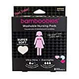 Bamboobies Washable Nursing Pads For Breastfeeding Variety Pack| Reusable Breast Pads| 4 Pairs| 3 Regular Pairs + 1 Overnight Pair | Multi-Color