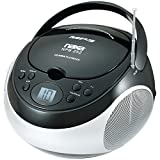 NAXA Electronics Portable MP3/CD Player with AM/FM Stereo Radio (Black)