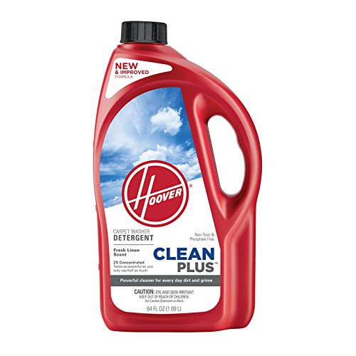 Hoover CleanPlus Concentrated Solution Formula Carpet Cleaner and Deodorizer, 64 oz, AH30330NF, Red (Best Car Wash Solution)