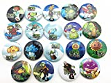 19pcs Plants Vs Zombies Badge Button Pin Kid Toy/party Gifts