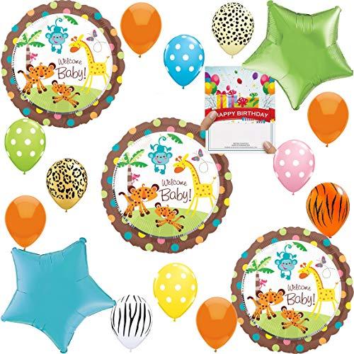 Jungle Safari Baby Shower Party Supplies Balloon Decoration Bundle