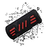 BAVISION Waterproof Bluetooth Speakers,【15+Hours 4400MAH】 Wireless and Instant Compatible iPods and iPhones, Built In Subwoofer, Portable Design Works Great Outdoor Black