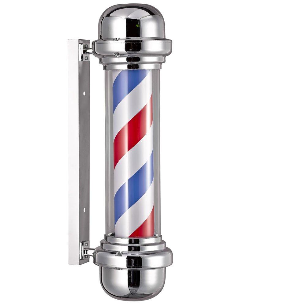 Poste de barbero profesional sin esfera luminosa para peluquería, 23 x 68 cm: Amazon.es: Bricolaje y herramientas