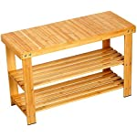 'Shoe Bench With 100% Natural Bamboo,2-Tier Seat Storage Racks Holder Shelf Organizer Entryway Hallway Furniture' from the web at 'https://images-na.ssl-images-amazon.com/images/I/519JqqR5YrL._AC_SR150,150_.jpg'