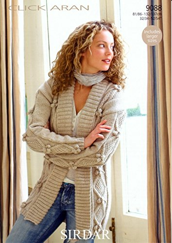 Sirdar Click Aran Ladies Knitting Pattern 9088 Amazon