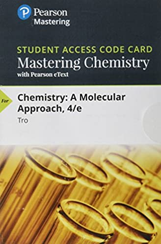 mastering chemistry with pearson etext standalone access card rh amazon com Tro Chemistry Textbook Tro Chemistry Solutions Manual PDF