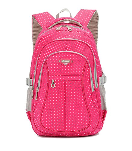 Decompression Heavy Duty Kids School Bookbag Backpack for Girls Red