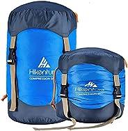 Hikenture Compression Sack for Sleeping Bag, Upgrade 2.0 Anti-Tear Nylon Sleeping Bag Stuff Sack, 10L/14L/20L/