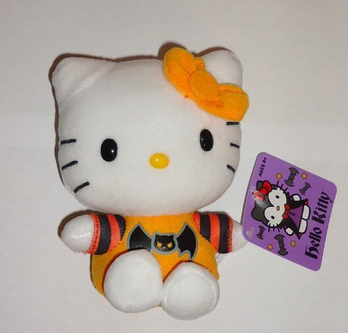 Hello Kitty Halloween Plush (Halloween 2013 Hello Kitty 5 Inch Plush Bat Shirt by Jakks)