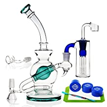 REANICE (GLOBE D) Recycler Green Glass 14.5mm joint size bowl Height 24cm Cheap Water oil only ¡­