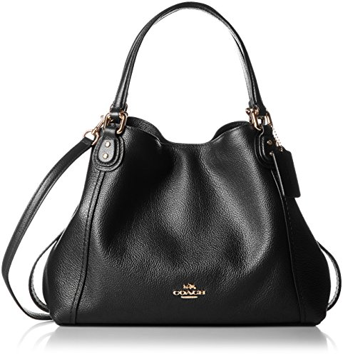 Coach Edie Ladies Medium Pebbled Leather Ladies Shoulder Handbag 57124 - Coach Style Handbag