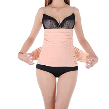 977fc25f0557f ANGTUO 3 in 1 Postnatal Support Recovery Belly Belt Body Shaping Slimming  Girdle Belt Breathable Abdominal Belt Kit  Belly Waist Pelvis Support  Girdle ...