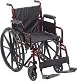 Best Wheelchairs - Drive Medical Rebel Lightweight Wheelchair, Red Review