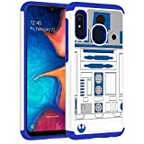 Samsung Galaxy A10e Case - R2D2 Droid Robot Pattern Shock-Absorption Hard PC and Inner Silicone Hybrid Dual Layer Armor Defender Protective Case Cover for Samsung Galaxy A10e