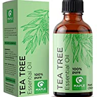 100% Pure Tea Tree Oil Natural Essential Oil with Antifungal Antibacterial Benefits for Face Skin Hair Nails Heal Acne Psoriasis Dandruff Piercings Cuts Bug Bites Multipurpose Surface Cleaner