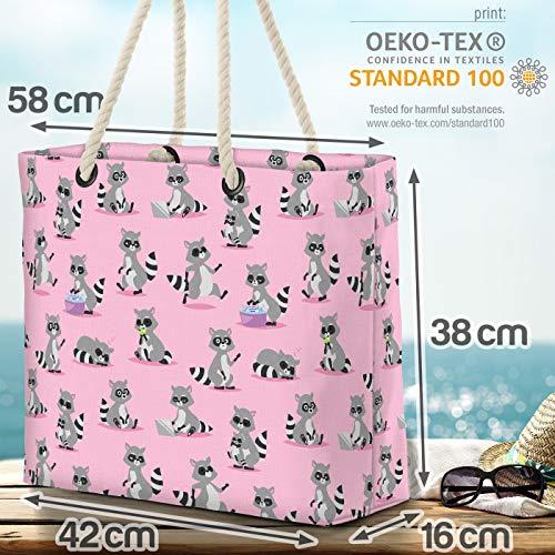VOID tvättbjörn-bande strandväska Shopper 58 x 38 x 16 cm 23 L XXL shoppingväska väska resväska Beach Bag