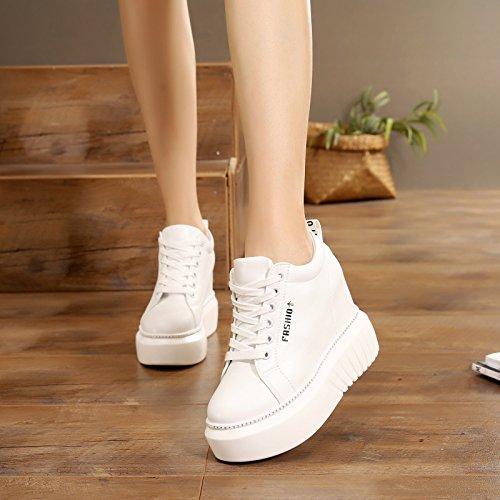 de 11 de de muy interior zapatos dinero deporte el tacón primavera mujer alto GTVERNH zapatos de zapatos cm viaje Fondo zapatos Verano Zapatos de grueso en mujer para blanco alto de casuales w5Tq05ZH