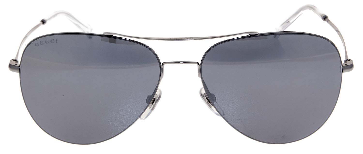Gucci Sunglasses - 2245 / Frame: Dark Ruthenium Lens: Black mirror by Gucci (Image #2)