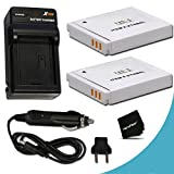 2 Canon NB-6L / NB-6LH Batteries Replacement by Xit with AC/DC Quick Charger Kit for Canon PowerShot SX540, SX530 HS, SX610 HS, SX600 HS, SX710 HS, SX700 HS, SX520 HS, SX510 HS, SX500 IS, SX280 HS, SX260 HS, SX170 IS, SD1300 IS, SD1200 IS, SD980, SD770, SD1300, D30, D20, D10, IXUS 85 IS, IXUS 95 IS, IXUS 200 IS Digital Cameras