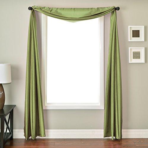 (Softline Home Fashions NETHaplSC Bella Kids 6 Yard Window Scarf Apple)