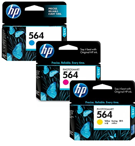 HP 564 Ink Cartridges: Cyan Magenta & Yellow 3 Ink Cartridge