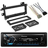 EnrockAudio Pioneer MVHS300BT Single-DIN Bluetooth AM/FM USB AUX Digital Media Stereo Car Audio Receiver, Scosche CR01B Power Connector Wire Harness, w/CJ1279B Dash Kit (Fits 1984-Up Chrysler)
