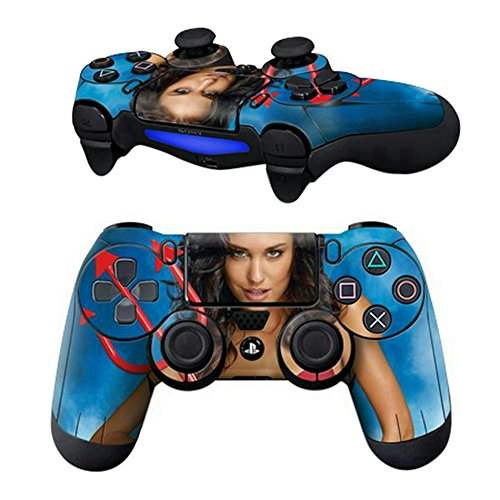 Price comparison product image Mod Freakz Pair of Vinyl Controller Skins - Red Devil Pitch Fork for Playstation 4