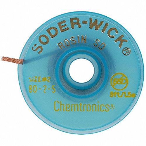 Chemtronics 80-2-5 Soder-Wick Rosin SD Desoldering Braid