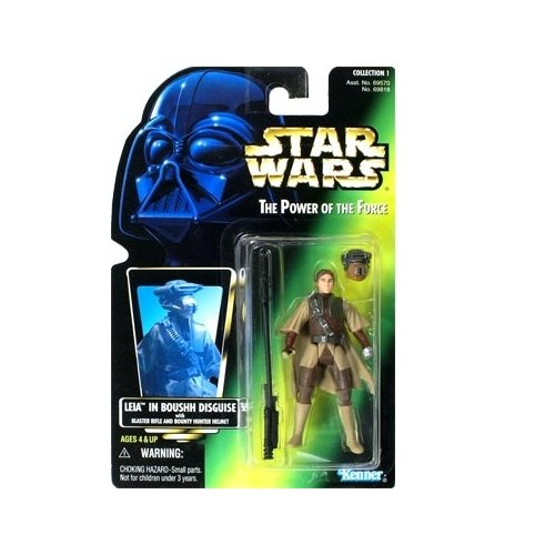 Kenner Star Wars The Power of The Force Princess Leia in Boushh disguise with Green Holo - Kenner Shopping La In